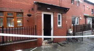 A property in St Margaret's Avenue was firebombed