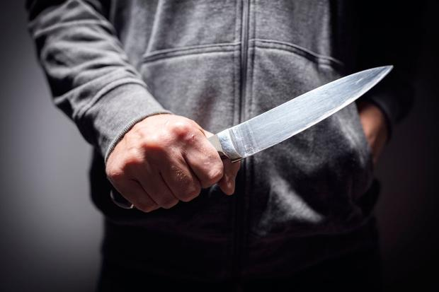 Stafford made threats with a large kitchen knife