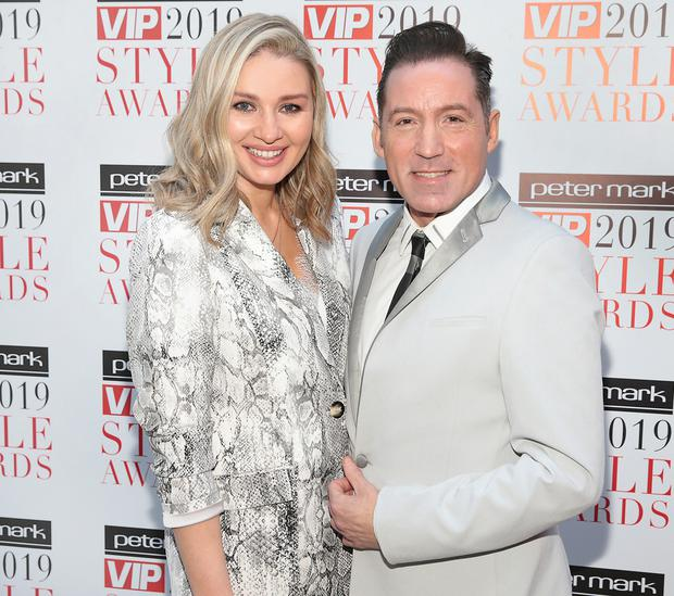 Anna Daly and Julian Benson at the launch of the Peter Mark VIp Style Awards 2019 at Cafe en Seine ,Dublin