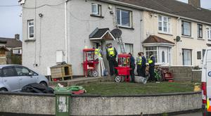 The scene of the raid at a house in Finglas