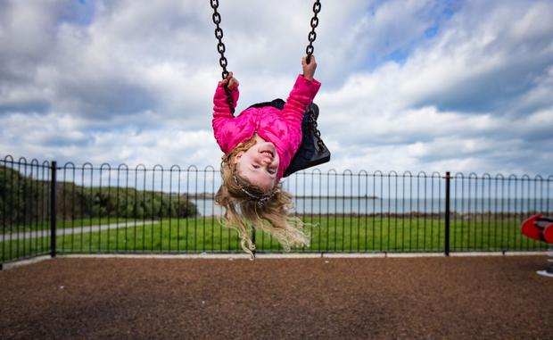 Mai Maher enjoys the weather in north Dublin