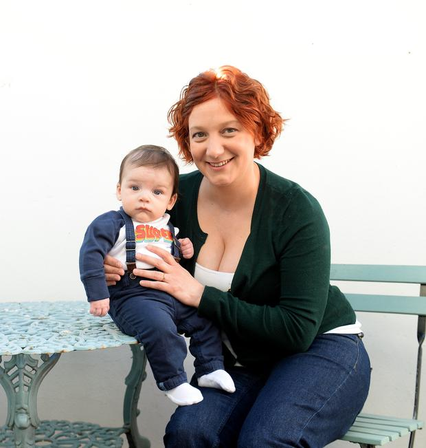 Tech worker Victoria Page and baby son Alexander
