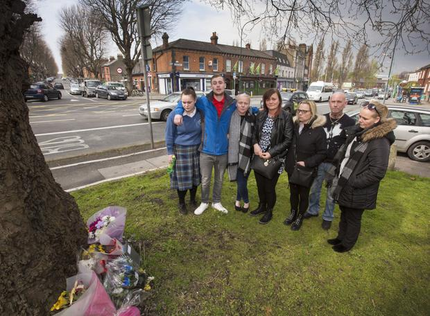 The family of tragic death-smash driver John Nulty lay flowers at the crash site
