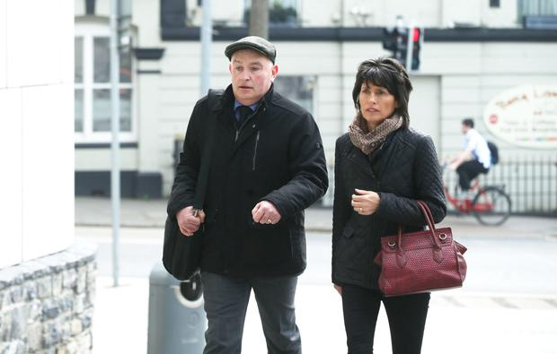 Patrick Quirke outside court with his wife Imelda. Photo:Collins Courts