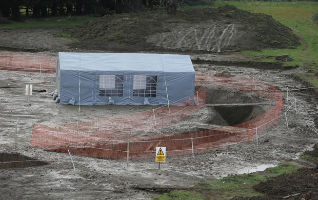 The historic dig on lands once owned by Liam Cosgrave. Photo: Damien Eagers / INM