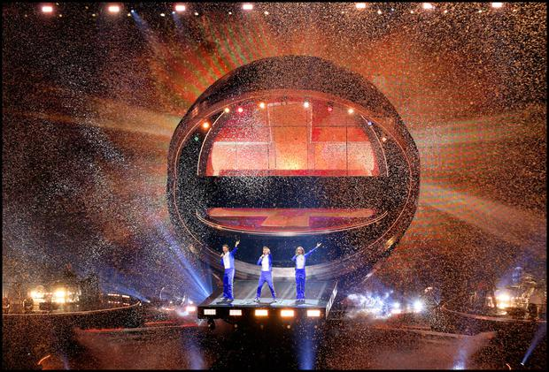 Take That on stage at 3Arena