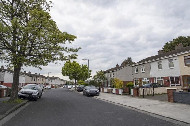 Rutland Grove in Crumlin, where the vicious attack occured