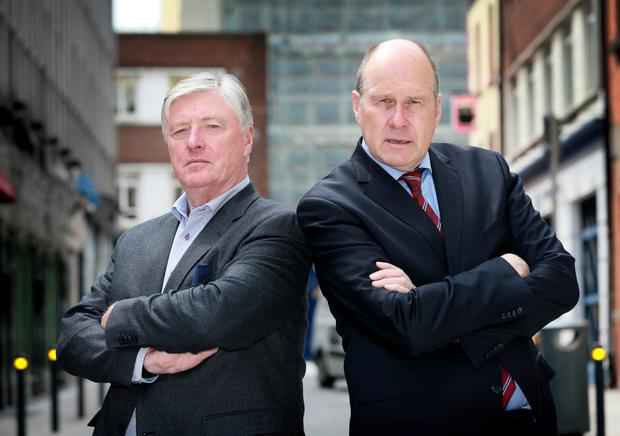 Pat Kenny pictured with Ivan Yates at the launch of Virgin Media's Pat Kenny's Big Debate.