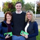 Cathal Haughey with aunt Eimear (left) and mum Jackie. Photo: Damien Eagers