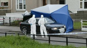 Gardai at the scene of the shooting in 2007