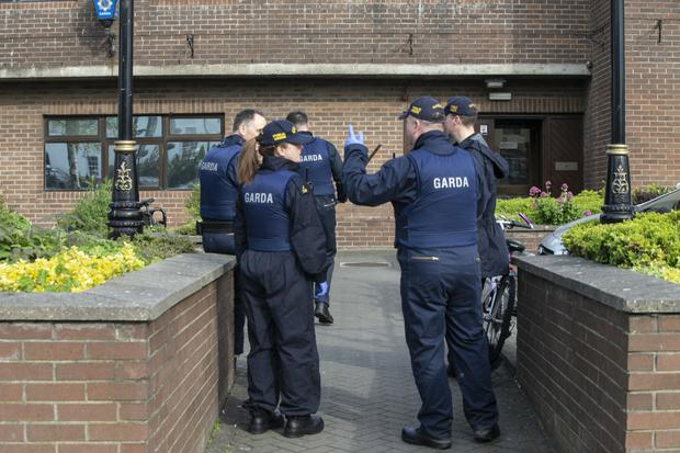 Gardai at the scene in Swords, North Dublin