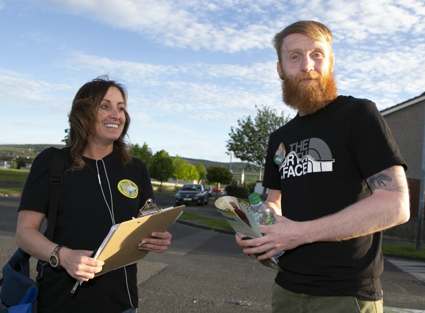 Paddy Holohan with councillor Louise Dunne