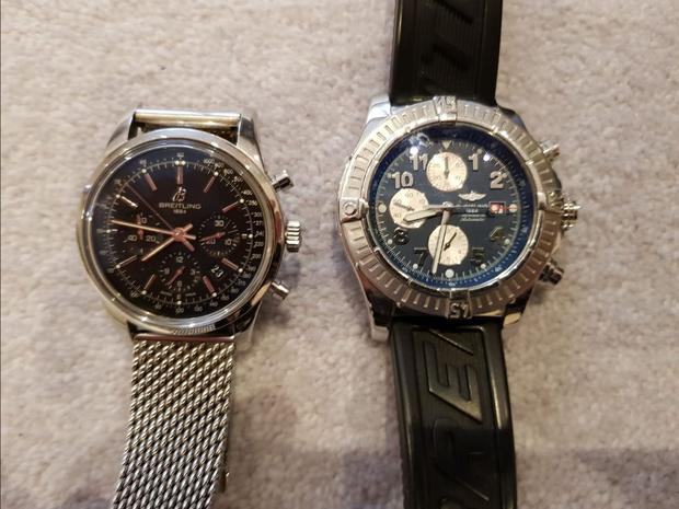Two high-end Breitling watches were seized in the raids