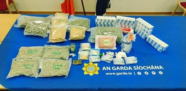 Some of the drugs seized by gardai in the Finglas operation