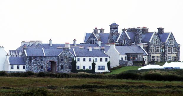 A no-fly zone has been set up around the Doonbeg resort