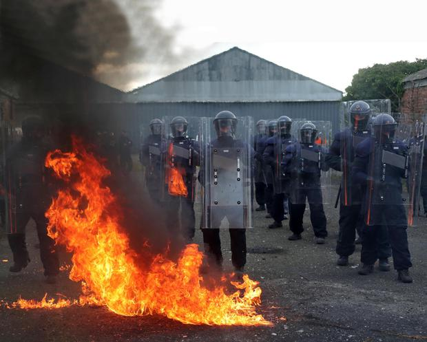 Members of the garda Public Order Unit during a training exercise earlier this year
