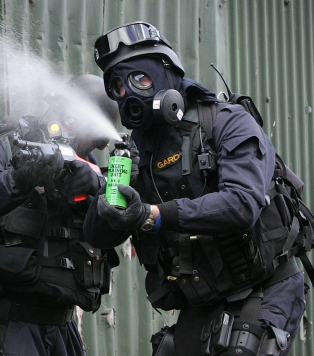 Training with pepper spray