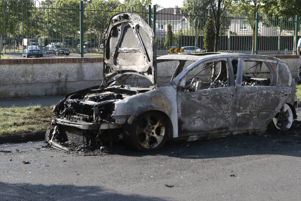 A car was later found burned out in nearby Huntstown Wood