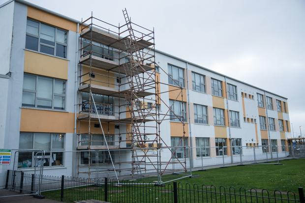 Remedial works are taking place at St Luke's, Tyrrelstown.
