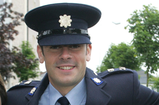 Michael Garrett at his garda graduation ceremony in Templemore