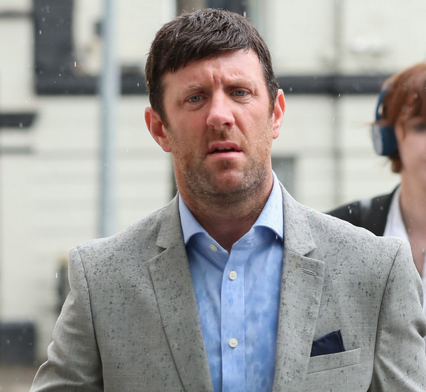 Clive Mason is charged with assaulting a taxi driver in Dublin