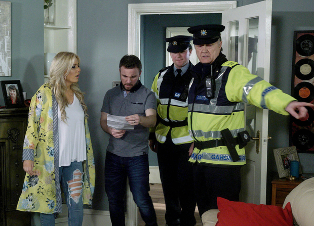 Tommy O'Neill (right) as Detective Deegan in Fair City