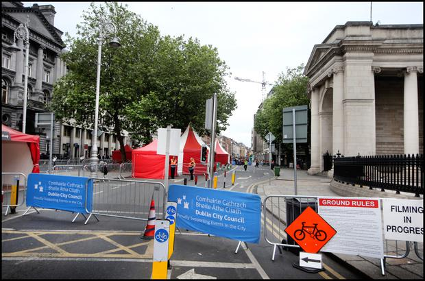 College Green was closed to traffic yesterday and will be for the next two Sundays