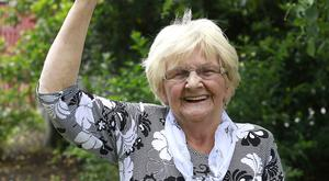 Emmy Scanlon, Shane Lowrys grandmother celebrates his success in the Open at her home in Clara