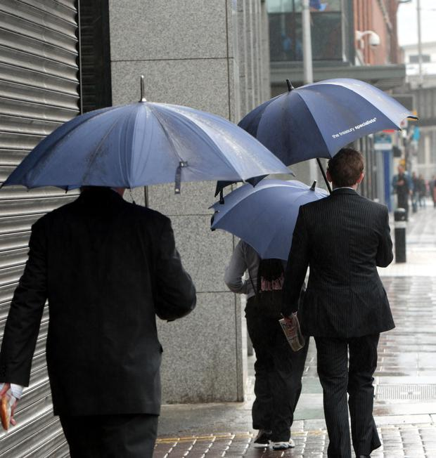 Keep the umbrellas handy, this sunny spell won't last
