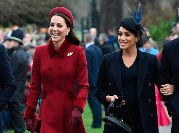 Kate Middleton and Meghan Markle. Photo: