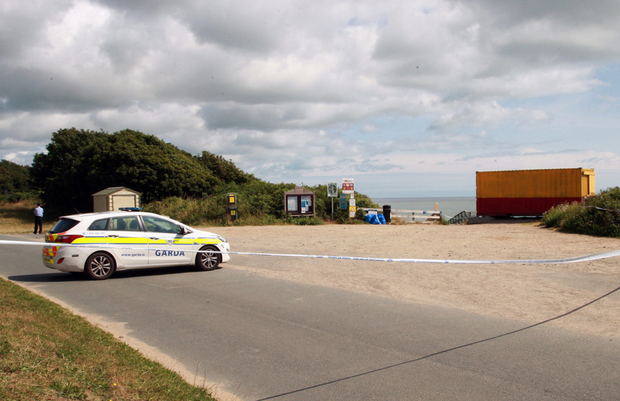Gardai at the scene in Courtown, Co Wexford, where the alleged sex assaults took place