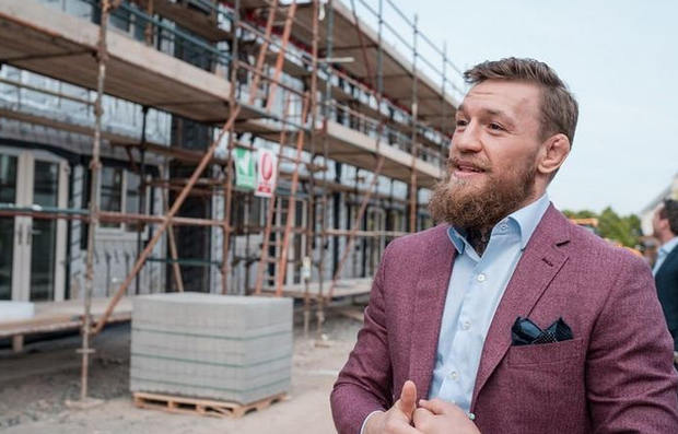 Conor McGregor has visited the development in Santry
