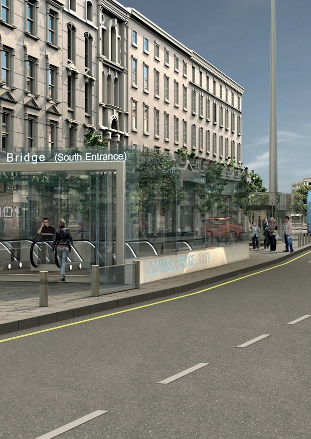 How the MetroLink might look on O'Connell Street