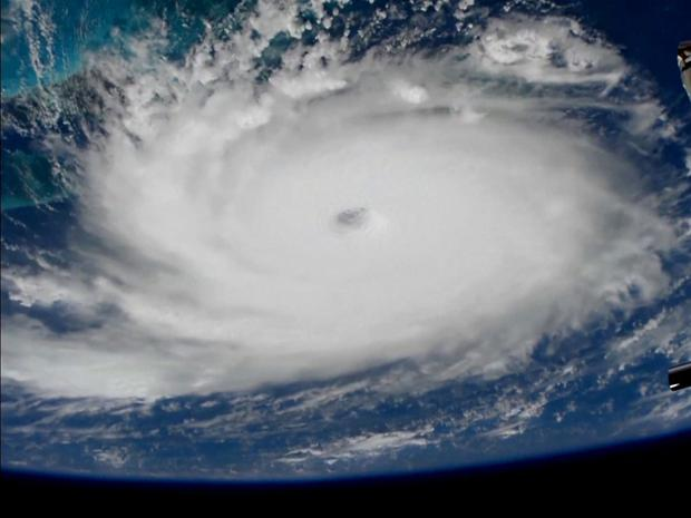 Hurricane Dorian is viewed from the International Space Station