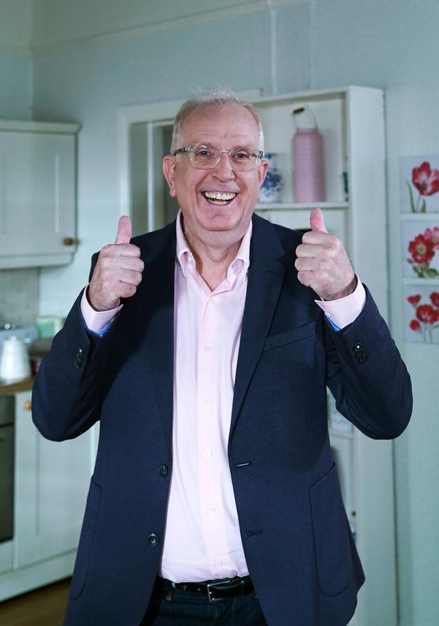 Rory Cowan on the set of Fair City at RTÉ