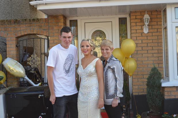 Shane Rock with his sister Shauna and mother Majella