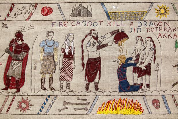 A scene from Tourism Ireland's Game Of Thrones tapestry