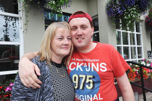 Sharon Connolly with Barry, who turns 30 on Thursday. Photo: Seamus Farrelly