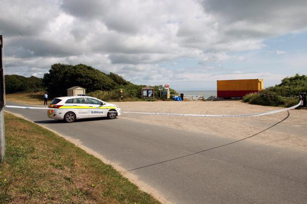 Gardai at the scene of the alleged sex attack incident in Courtown