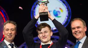 Adam Kelly after his BT Young Scientist win