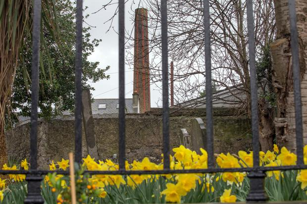 A chimney stack at the site is listed as a protected structure