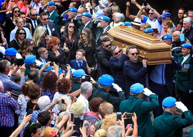 The funeral of Brendan Grace in the Liberties, Dublin. Photo: Mark Condren