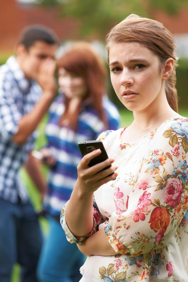 Cyberbullying is a persistent problem. Picture posed