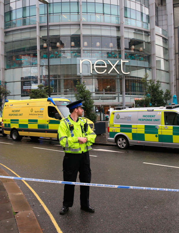 Armed police at the Arndale Centre