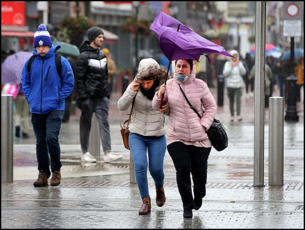 Dubliners suffered in rainy conditions last week