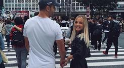 Conor Murray and partner Joanna Cooper in Japan. Picture: Instagram