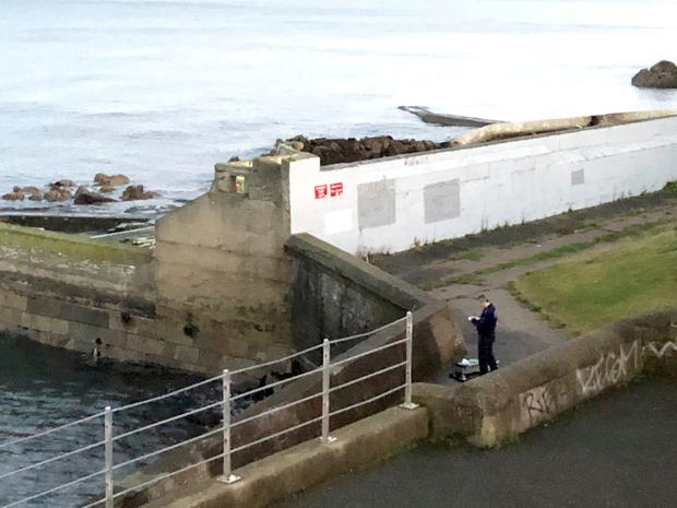 The scene of the knife attack at Dun Laoghaire seafront, where the teenager slashed the throat of Stephanie Ng, who he met on social media while pretending he was 19
