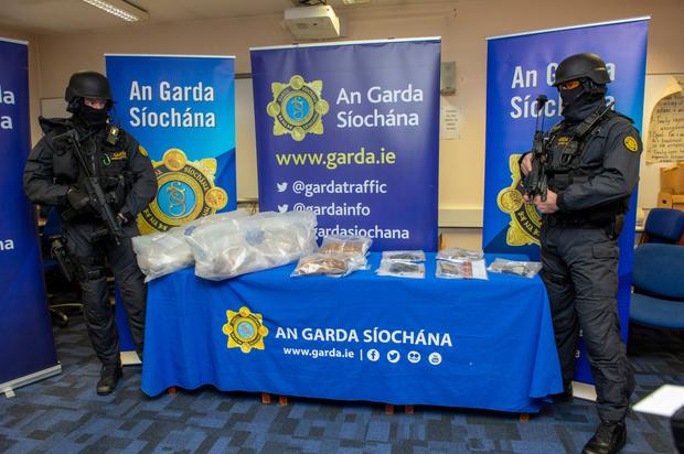 During a number of raids in Drogheda yesterday/Monday drugs, guns, assorted magazines and various ammunition was discovered.