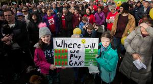 Local residents protest plans to build apartment blocks near St Anne's Park. Photo: Collins Photo Agency