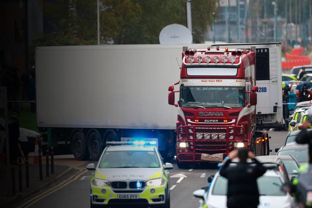 The lorry where 39 people were found dead